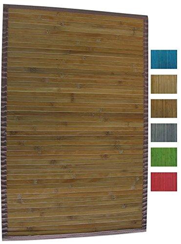 90 x 60 x 0,1 cm Color Oscuro MSV 140529 Alfombra de bamb/ú