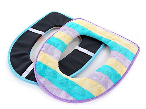 2pcs Senor Warm Toilet seat pad cover, Washable Soft cord...