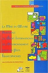 La mise en oeuvre nationale du droit international de l'environement dans les pays francophones : Actes des troisièmes journées scientifiques du Réseau