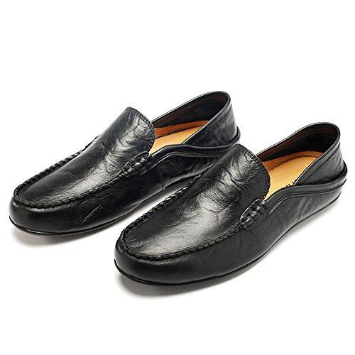 Black pour Occasionnels Hommes D'été Wild Mode on Chaussures pour Slip Chaussures Hommes Respirant LEDLFIE SwpqaOn