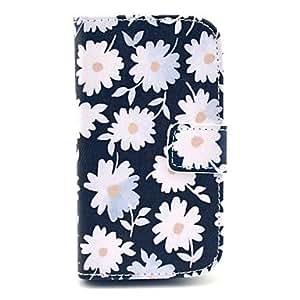 MOFY- patr—n de flores de crisantemo florece la caja del cuero de la PU de cuerpo completo para el mini i8190n samsung s3