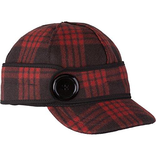 (Stormy Kromer Women Button Up Cap Black/Red Tartan 7 1/4)