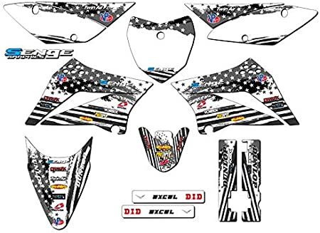 Complete Complete Senge Graphics kit Compatible with Kawasaki 2010-2020 KLX 110 Merica MATTE BLACK