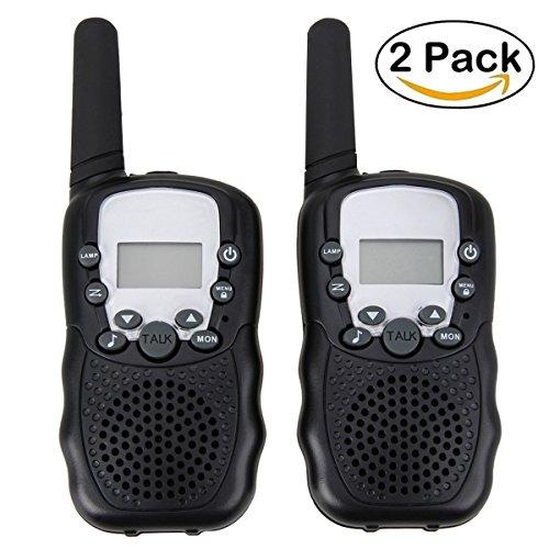 Kids Walkie Talkies,22 Channel Walkie Talkies (Pair) 2 Way Radio Built in Flash Light,Mini Handheld Walkie Talkies,Kids Gift,Kids Toys (Black)