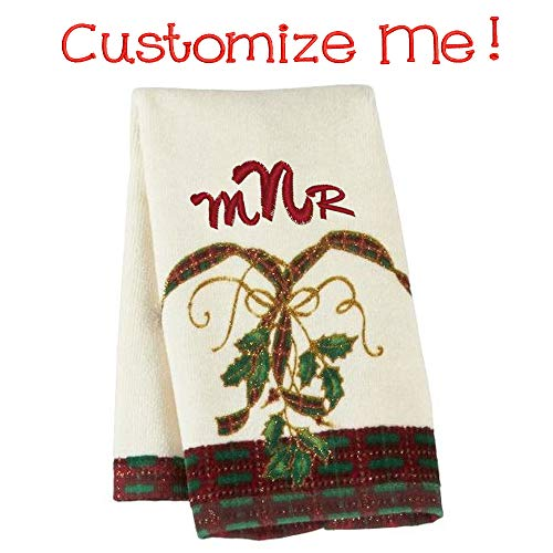 (Lenox Holiday Nouveau Fingertip Personalized Towel (Beautifully Embroidered Monogram or Name))