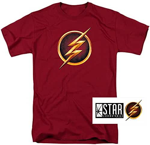 The Flash TV Series Logo T Shirt and Exclusive Stickers