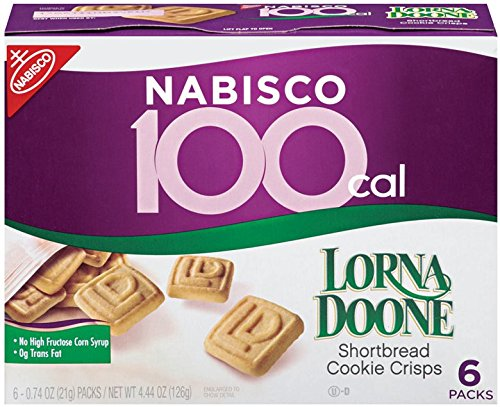 100 Calorie Lorna Doone Shortbread Cookie Crisps, 4.44 Oz, 6 Count (Pack of 6) by Lorna Doone