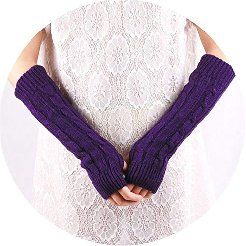 Women Arm Warm Knitted Mitten Winter Solid Color Fingerless Gloves Long guantes Tactical gloves9