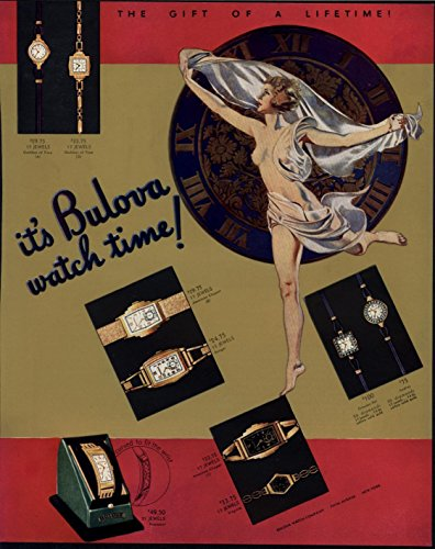 bulova-watch-beautiful-nude-emblem-luxurious-1936-vintage-color-fortune-print