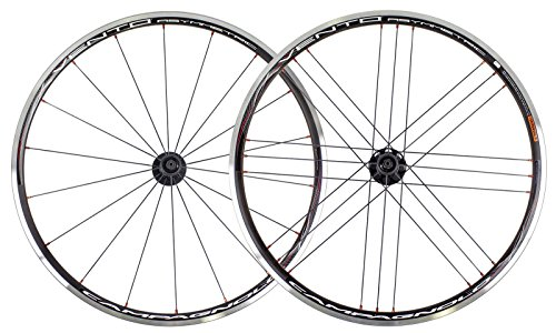 Campagnolo Vento Asymmetric G3 Clincher Wheelset Black Pair For Campagnolo 10-11 Speed