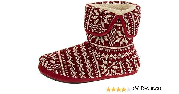 Coolers Hombre Fairisle Botas Zapatilla de Punto: Amazon.es: Zapatos y complementos