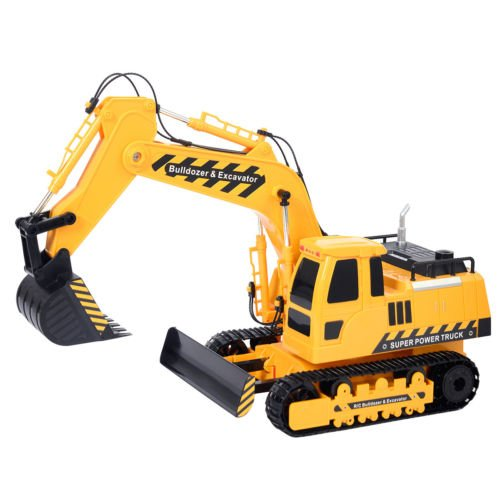 Goplus 1/18 5CH Remote Control RC Excavator Construction Bulldozer Digger Truck by Unbranded*