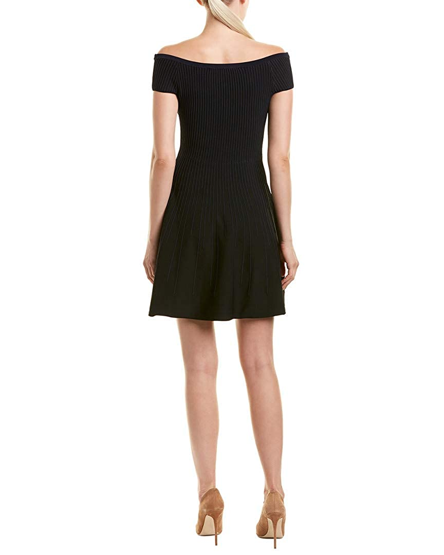 baa07bfe146 Amazon.com  French Connection Womens Olivia Crepe Off-The-Shoulder Cocktail  Dress  Clothing