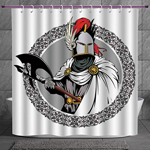 SCOCICI Polyester Shower Curtain 2.0 [ Medieval Decor,Illustration