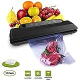 Vacuum Sealer Machine, Vacume Sealer Food Savers Vacuum Packing Automatic Sealing System/Starter Kit/10 Bags