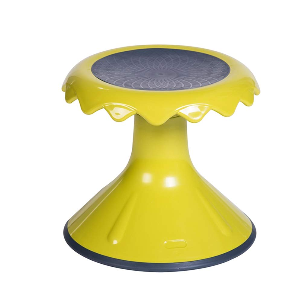 Yellow 33X37cm AGLZWY Footstool Multipurpose Plastic Bearing Strong Non-Slip Fashion Adult Living Room Twisted Stool, orange, Yellow (color   Yellow, Size   33X37cm)