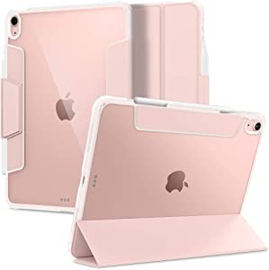 Spigen Ultra Hybrid Pro Designed for iPad Air 4th Generation 10.9 Inch Case with Pencil Holder (2020) - Rose Gold