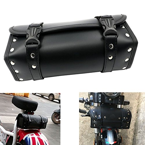 Alpha Rider Motorcycle Front Fork Or Back Saddlebags Storage Tool Pouch Roll Barrel Bag For Harley Honda Yamaha Kawasaki ()