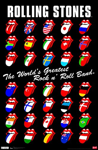 "Trends International Rolling Stones - Grid Wall Poster, 22.375"" x 34"", Premium Unframed"