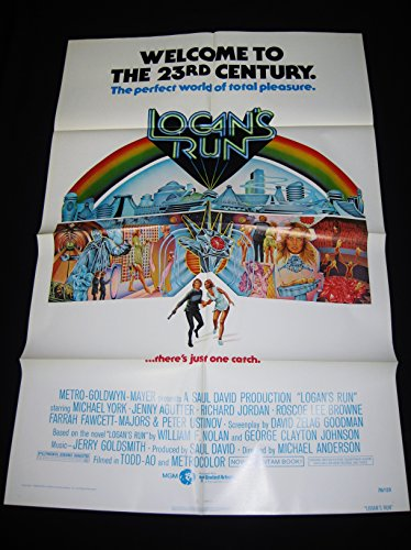 LOGAN'S RUN 1976 MICHAEL YORK 41ST ANNIVERSARY ONE SHEET C10 MINT UNUSED!!