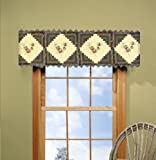 Donna Sharp Barn Raising Pine Cone Hand Quilted Valance or Runner