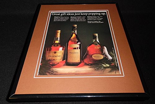 1986-hennessy-vsop-cognac-11x14-framed-original-vintage-advertisement