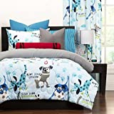 3 Piece Cuddly Puppies Themed Reversible Comforter Set Full/Queen Size, All Over Dogs Bedding, Cute Paws Stitching Pattern, Featuring Vibrant Animal Motif, Dog Lovers Design, Boys Bedroom, Multicolor