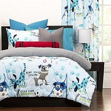 3 piezas Edredón Reversible, full/reina tamaño, todo diseño de peluche, diseño de cachorros perros ropa de cama ...