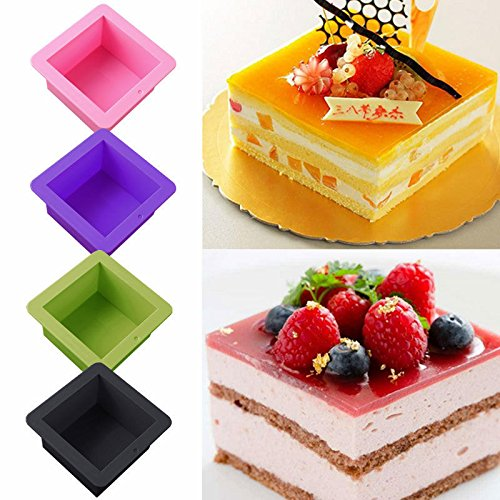VIPASNAM-Soap Toast Bread Box Silicone Mold Bakeware Pastry DIY Mould Cake Baking Tools - California Faucets Bronze Soap Dish