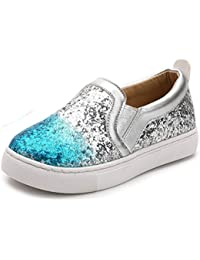ef28aba0c7e Girl s Cute Sequins Low Top Casual Loafers Princess Party Sneakers  (Toddler Little Kid