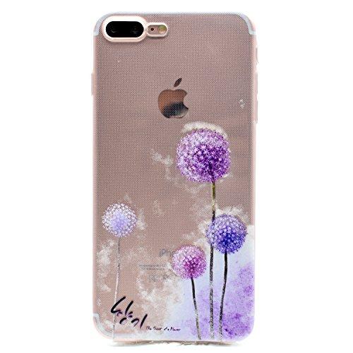 Für Apple iPhone 7 Plus (5,5 Zoll) Hülle ZeWoo® TPU Schutzhülle Silikon Tasche Case Cover - MM059 / Löwenzahn