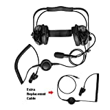 Maxtop AHDH0032RC-BK-M7 Two Way Radio Noise Cancelling Headset With Extra Cable for Motorola MTS2000 XTS2500