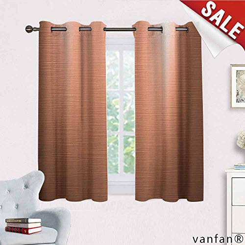 Big datastore Abstract Curtains,Indusrial Plate Facade Illustration Tough Construction Element Modern Cute Drapes for Space Themed,Pale Coral Chocolate W72 x L63