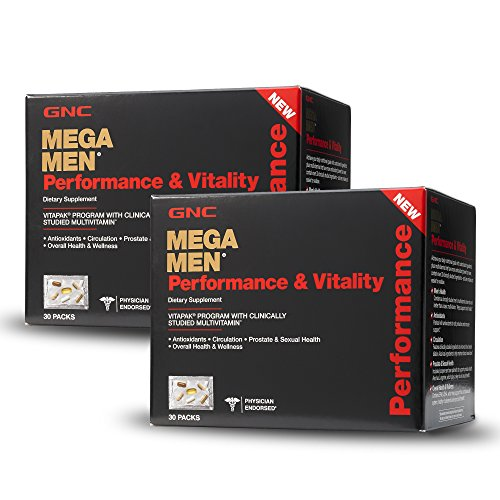 (GNC Mega Men Performance Vitality Vitapak Program - Daily Multivitamin -Twin Pack)