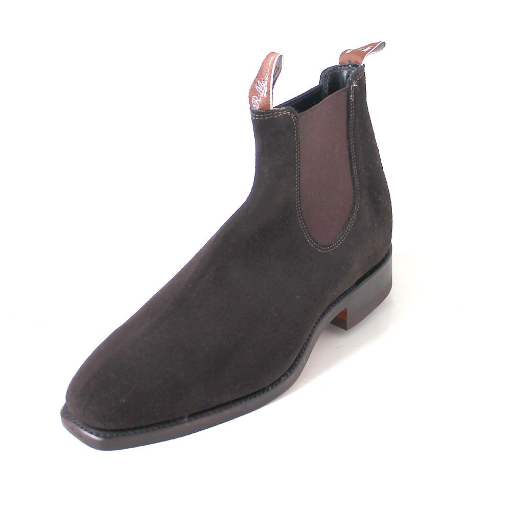 766f0ad62f7 R.M. Williams Craftsman chocolate/suede: Amazon.co.uk: Shoes & Bags