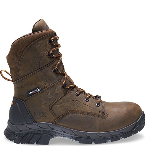 Wolverine Men's Glacier Ice Insulated Waterproof 8'' Comp Toe Work Boot, Summer Brown, 8 W US by Wolverine