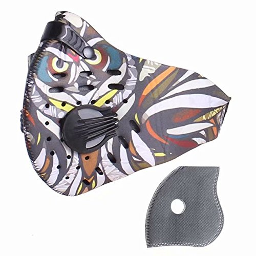 HOLIIBN Anti Pollution Face Mask with N95/N99 Protection Air Mask Filters,Anti Smoke, Exhaust Gas, Dust, Pollen, Allergens,Hiking, Running, Walking, Cycling, Ski and Other Outdoor Activities