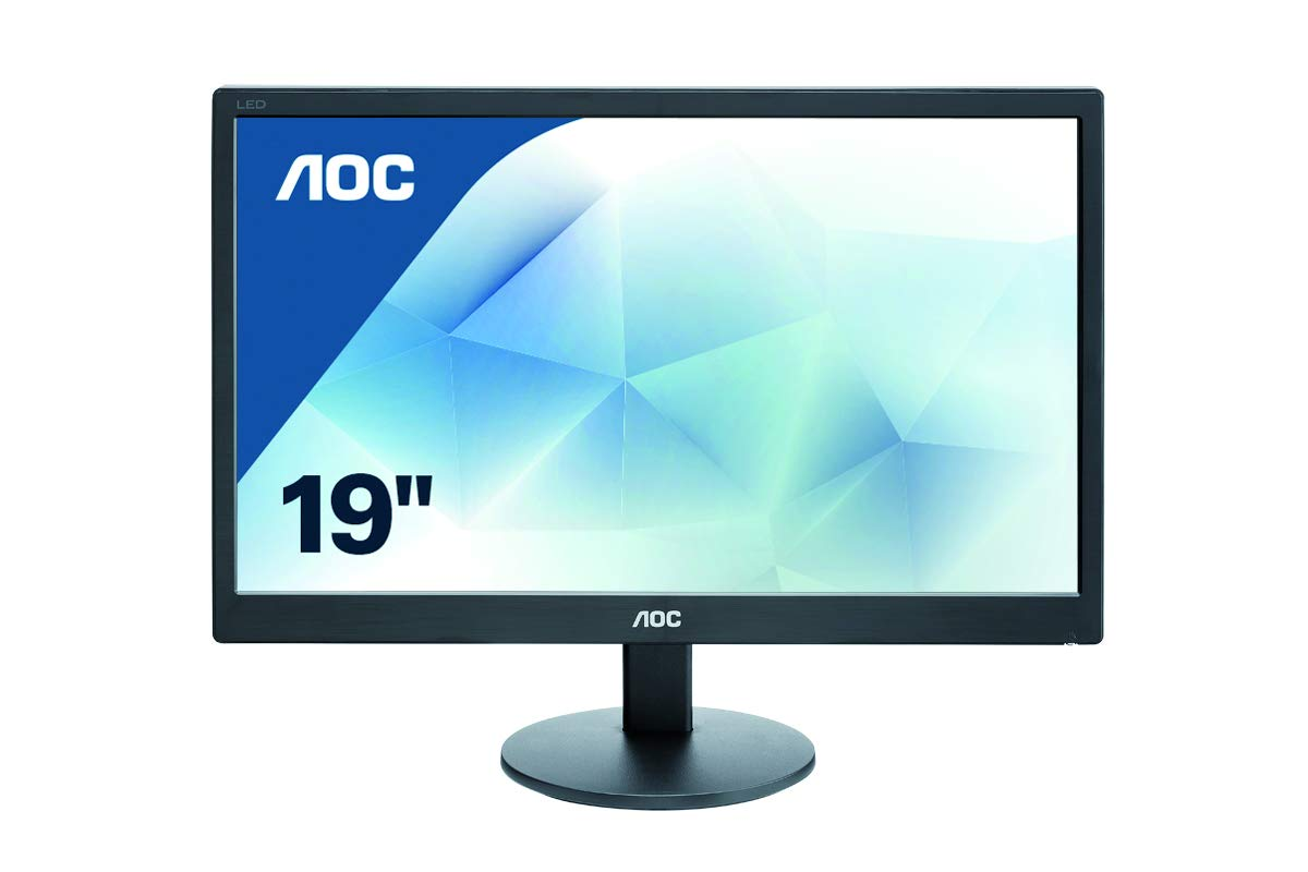 Amazon In Buy Aoc 18 5 Inch 46 99 Cm Led Backlit Computer Monitor With 1366 X 768 Resolution E970swn Black Online At Low Prices In India Aoc Reviews Ratings