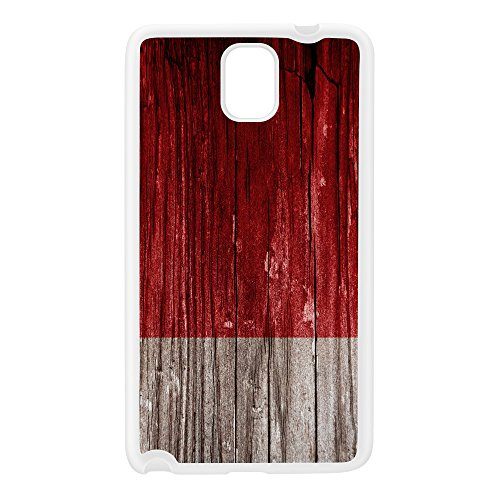 Vintage Wood Flag of United Arab Emirates Dubai - UAE Flag White Silicon Rubber Case for Galaxy Note 3 by UltraFlags + FREE Crystal Clear Screen Protector