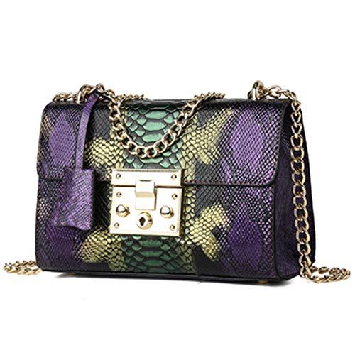 Snake Print Bag Shoulder Bag Messenger Cross Body Bag Serpentine Leather Crossbody Flap Bags