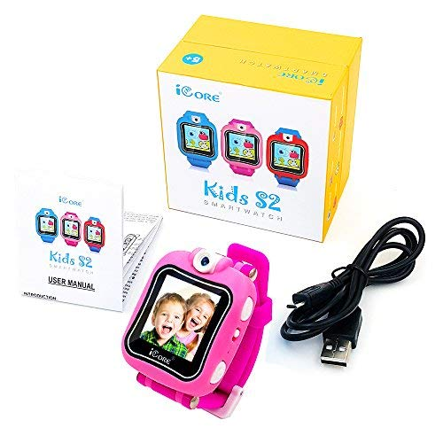 iCore Kids Watch, Durable Smart Watch for Kids, Game Pink Camera Smartwatch, Digital Touch Screen Kid Watches with Alarm Clock Stopwatch, Toys Video Games Girls Boys by iCore (Image #5)