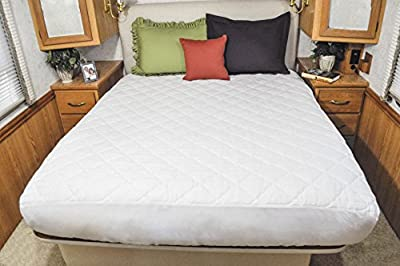 AB Lifestyles Camper King 72x80 USA MADE Mattress Pad, Quilted Mattress cover for Travel Trailer, RV or Camper
