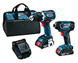 Bosch CLPK233-181 18V Premium Brushless Lithium-Ion Drill/Driver and Impact Driver Combo Kit