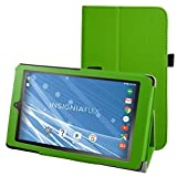 """Insignia NS-P08A7100 Case,Mama Mouth PU Leather Folio 2-folding Stand Cover with Stylus Holder for 8"""" Insignia Flex NS-P08A7100 Andriod 6.0 Tablet 2016,Green"""