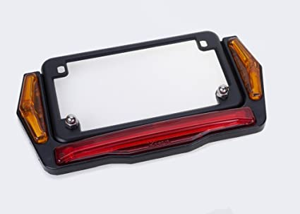 Amazon.com: Motorcycle License Plate Frame With LED Running, Turn ...