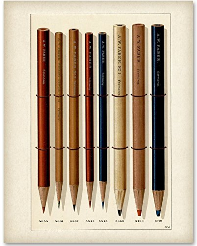 Faber Pencils - 11x14 Unframed Art Print - Great Gift for Artists from Personalized Signs by Lone Star Art