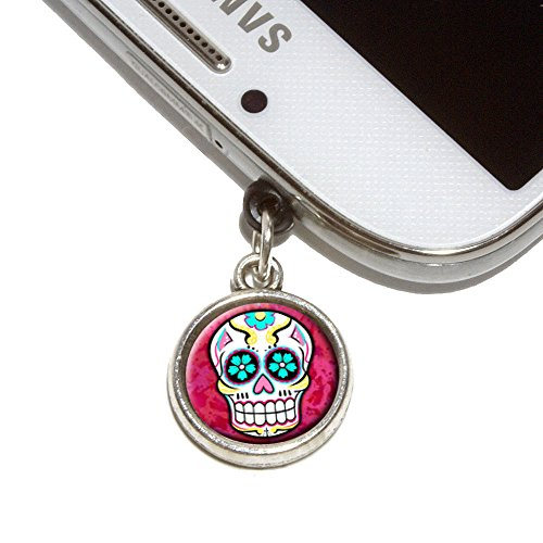 Sugar Skull Mobile Phone Jack Charm Universal Fits iPhone Galaxy HTC (Headphone Jack Charms Iphone6 compare prices)