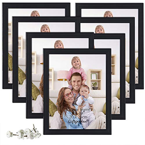 Giftgarden 8x10 Picture Frame Multi Photo Frames Set Wall or Tabletop Display, Black, 7 Pack -