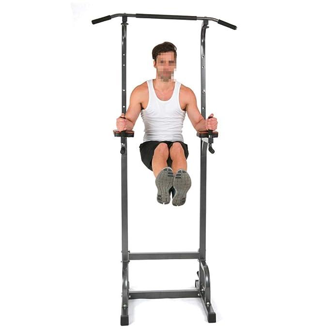 Torre de energía Torre de energía de pie Cuerpo completo Barbilla ascendente Ajustable Estación de inmersión Fuerza Entrenamiento muscular Entrenamiento ...