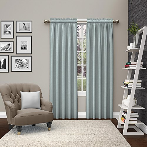 (Pairs to Go 15615056X084SPA Teller 56-Inch by 84-Inch Window Curtain Pair, Spa)